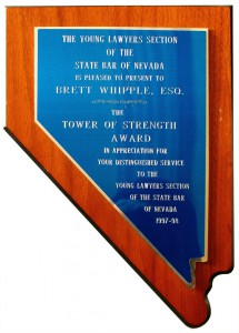 Young Lawyers Tower of Strength Award - Bret Whipple